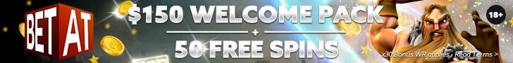 Get a 100% Welcome Bonus + 50 Free Spins at BETAT Casino