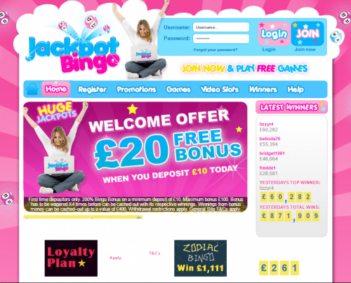 Jackpot Bingo Review