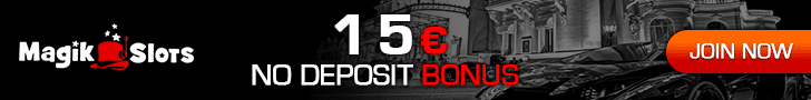 """Exclusive Offer"" – Open an account through our site and Magik Slots will give you a €15 No Deposit Bonus + a €1,500 Welcome Bonus. Use Bonus Code: 15GTGO"