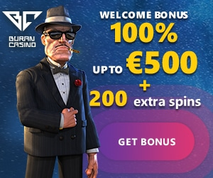 Exclusive Offer - Get 20 Free Spins No Deposit + 100% Welcome Bonus up to €500 + 200 Free Spins at Buran Casino