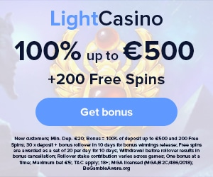 Get a €500 Welcome Bonus + 200 Free Spins at LightCasino