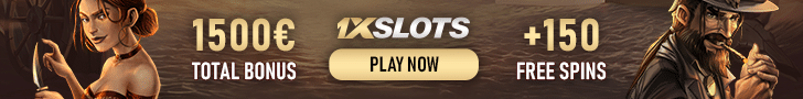 Get a €1500 Welcome Bonus Package + 150 Free Spins at 1xSlots Casino