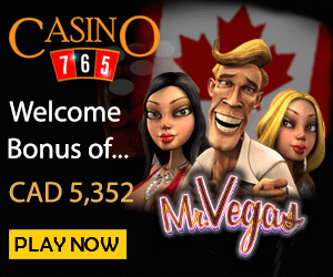 Get 20 Free Spins No Deposit + a $5352 CAD Welcome Bonus at Casino 765