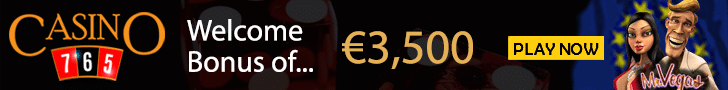 €3,500 Welcome Bonus + 50 Free Spins at Casino765