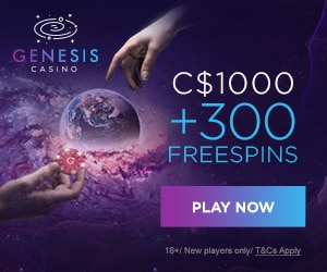 Get a $1000 Welcome Bonus + 300 Free Spins at Genesis Casino