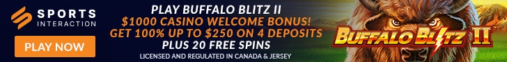 Get a $1,000 Casino Welcome Bonus Package + 20 Free Spins on the New Stallion Strike slot at Sports Interaction Casino