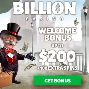 Get a $/€200 Welcome Bonus + 100 Free Spins at Billion Casino